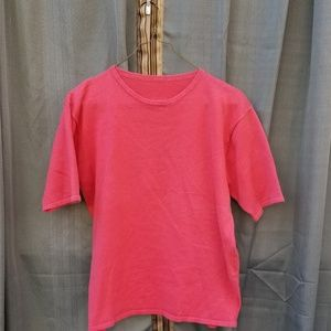 Pink Short Sleeve Tee Shirt Medium
